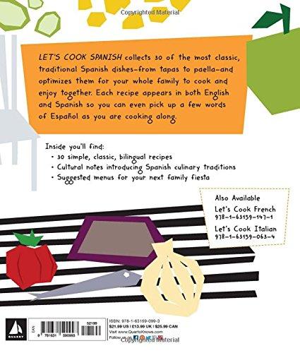 """Libro bilinguë de recetas de cocina """"Let's cook Spanish""""-Gabriela Llamas"""