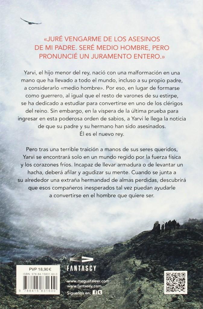 """Novela de fantasía """"Medio rey- Trilogía El mar quebrado 1""""- Joe Abercrombie"""