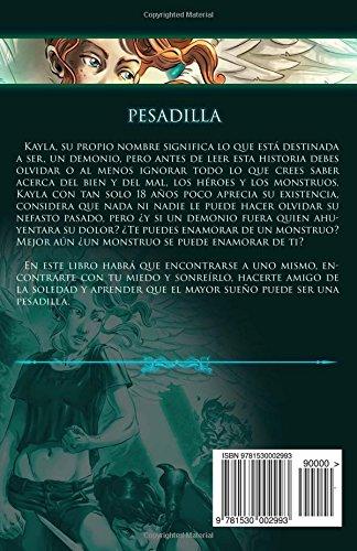 """Novela romántica juvenil """"Pesadilla- Trilogía Kayla 1""""- María Cuesta Martín"""