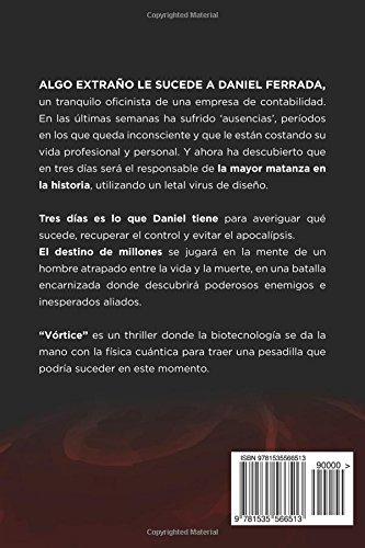 """Tecno thriller """"Vórtice"""" novela autopublicada por Claudio Navarro"""