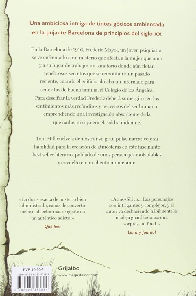 """Libro de intriga de Toni Hill -""""Los ángeles de hielo"""""""