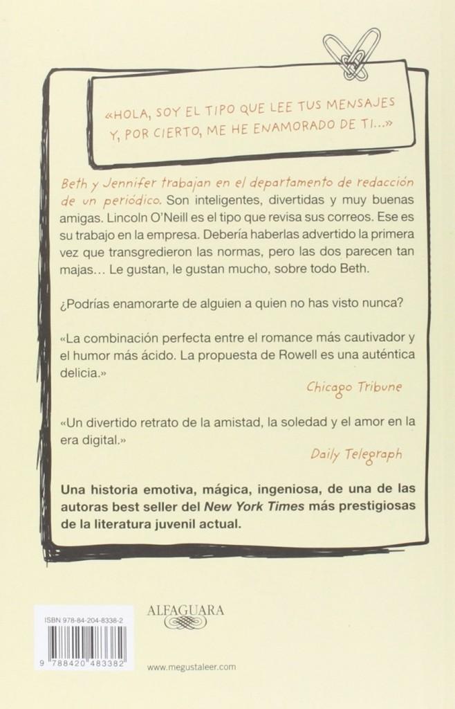 """""""Enlazados"""" Primera novela de amor juvenil de Rainbow Rowell autora de Eleanor y Park"""