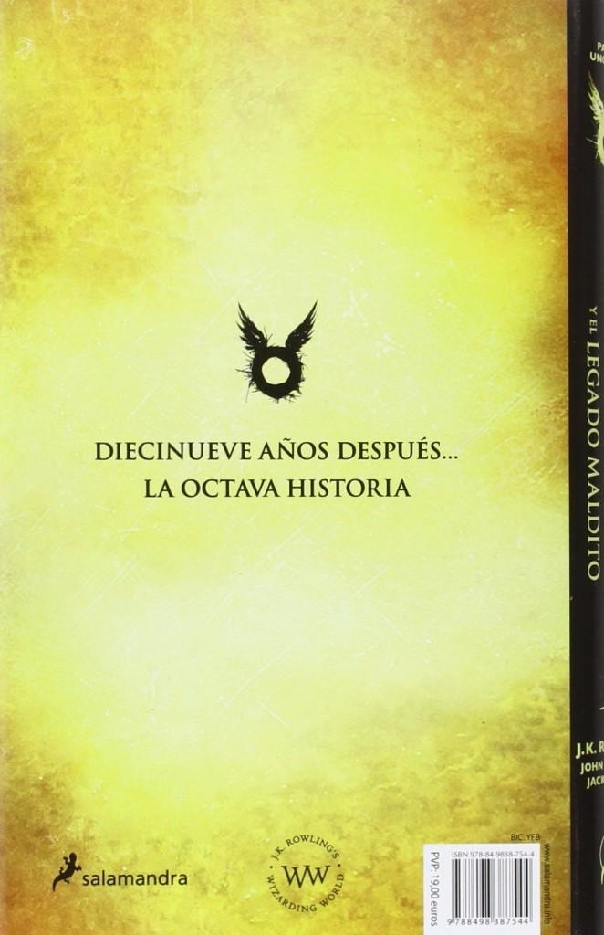 """Libro juvenil de fantasía """"Harry Potter y el legado maldito"""", J.K. Rowling 2016"""