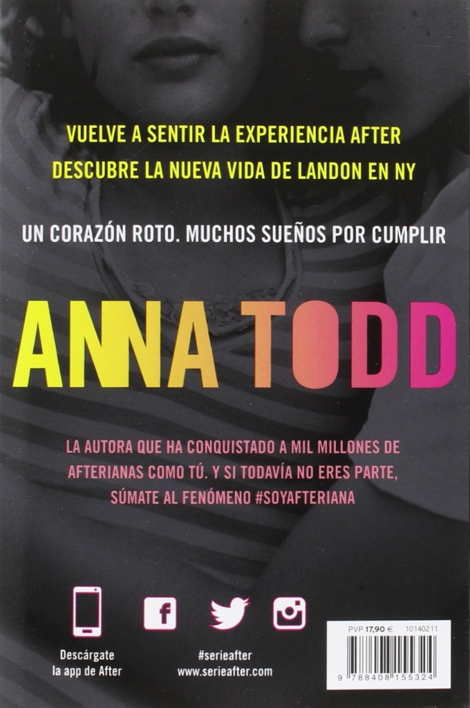 """Novela de amor juvenil de Anna Todd autora de la Serie After """"Landon. Todo por ti"""" 2016"""