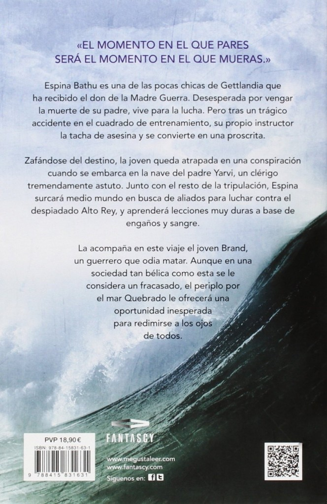 """Libro juvenil de fantasía """"Medio mundo- El mar quebrado 2""""- Joe Abercrombie"""