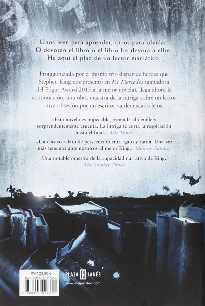 "Thriller de Stephen King 2016 - Novela ""Quien pierde paga"""
