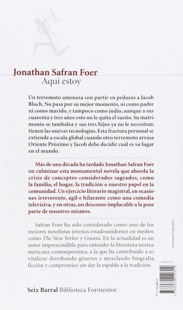 """Libro de Jonathan Safran Foer - """"Aquí estoy"""""""