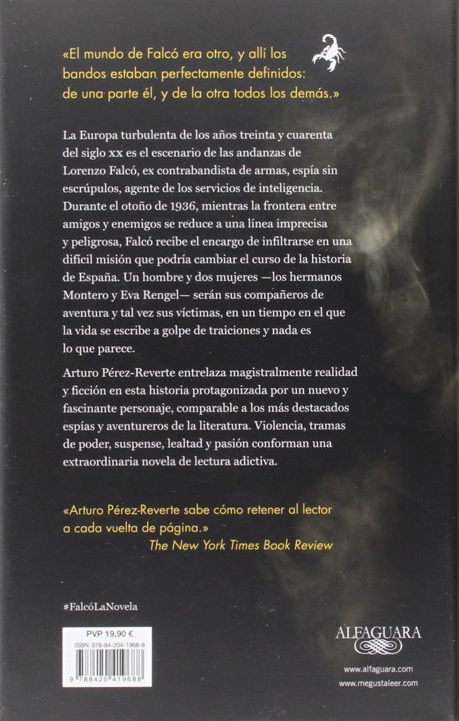 """Falcó"" libro de ficción histórica y thriller de Arturo Pérez-Reverte"