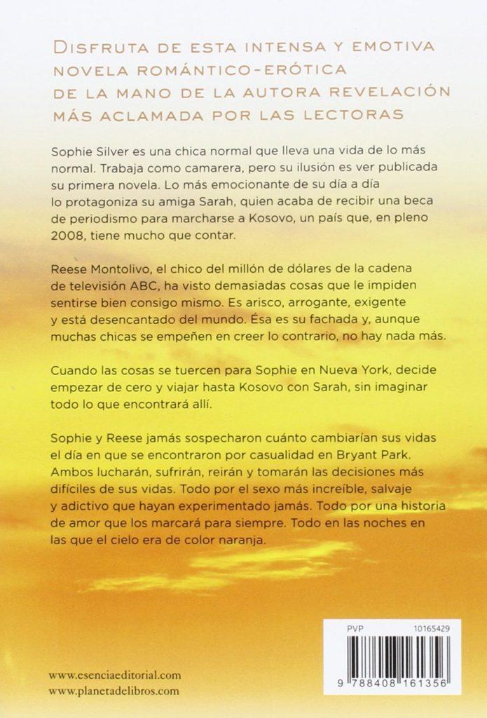 "Novela erótica de Cristina Prada 2016 ""Las noches en las que el cielo era de color naranja"""