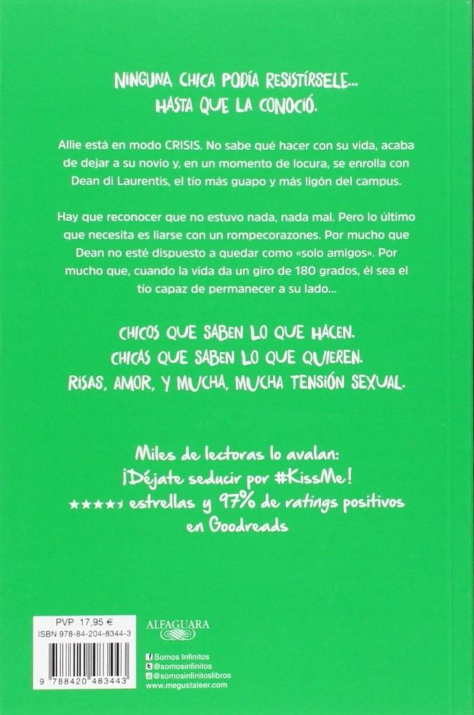 """Libro de amor juvenil Serie #KissMe 3 """" Inmune a ti""""- Elle Kennedy"""