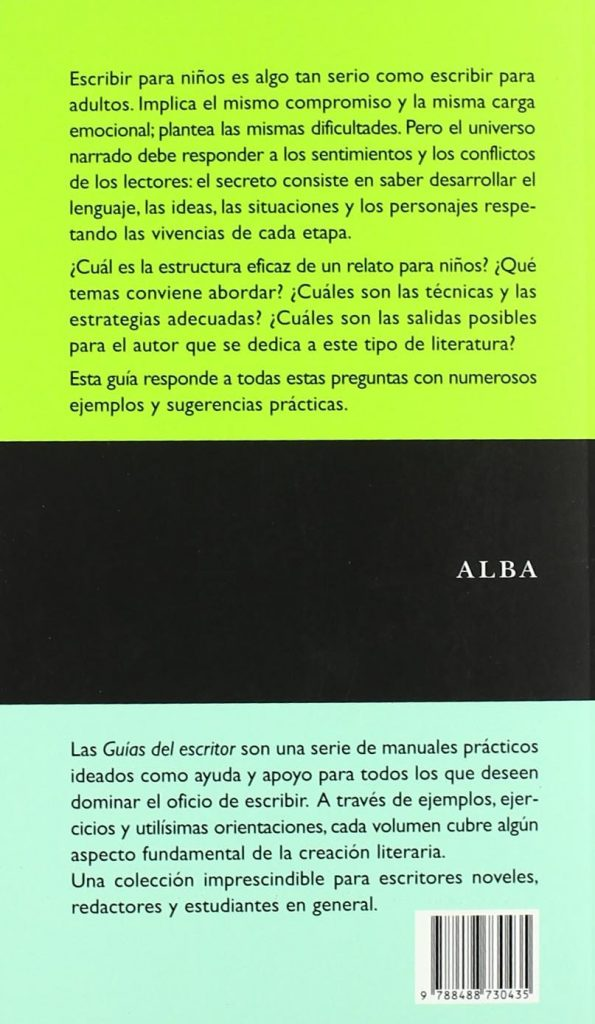 """Guía del escritor para autores infantiles """"Escribir para niños"""" de Silvia Kohan"""