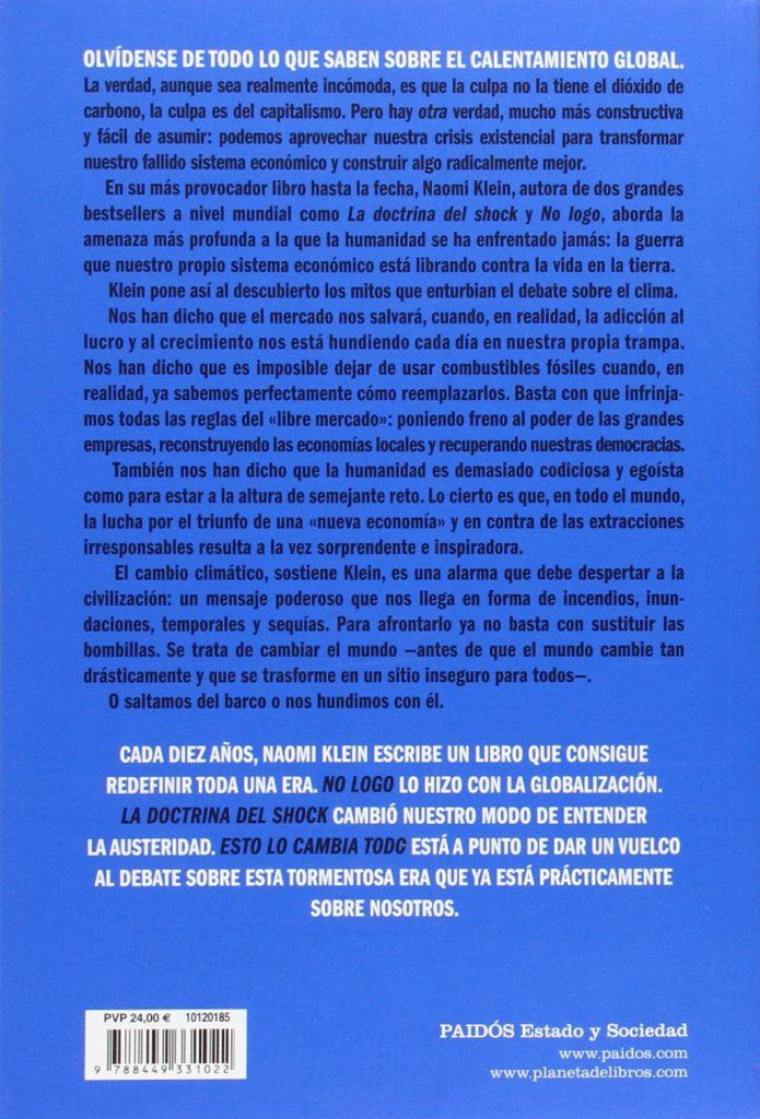 """""""Esto lo cambia todo"""" es el último libro de Naomi Klein autora de """"La doctrina del Shock"""""""