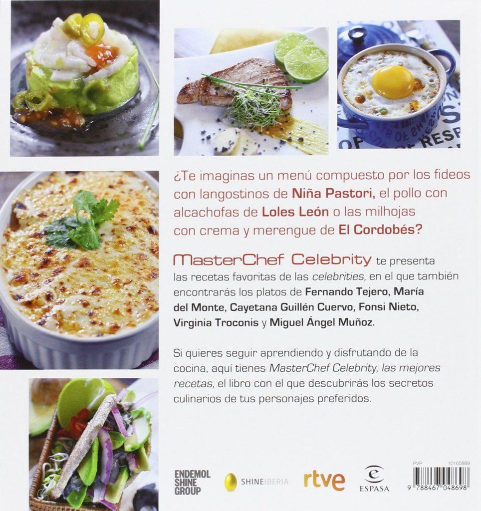 """Libro de cocina """"Masterchef Celebrity. Las Mejores Recetas"""" 2016"""