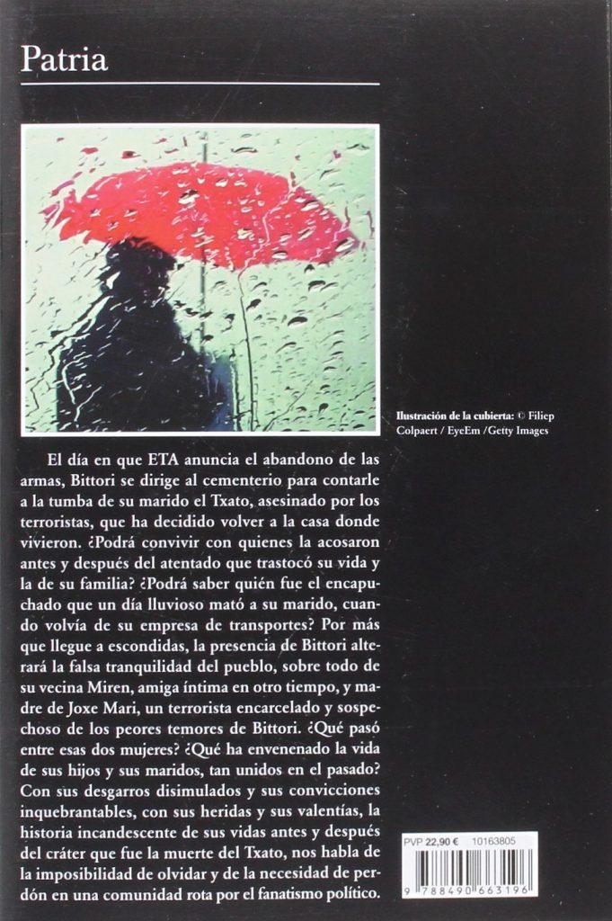 """Libro de ficción """"Patria""""- Fernando Aramburu"""