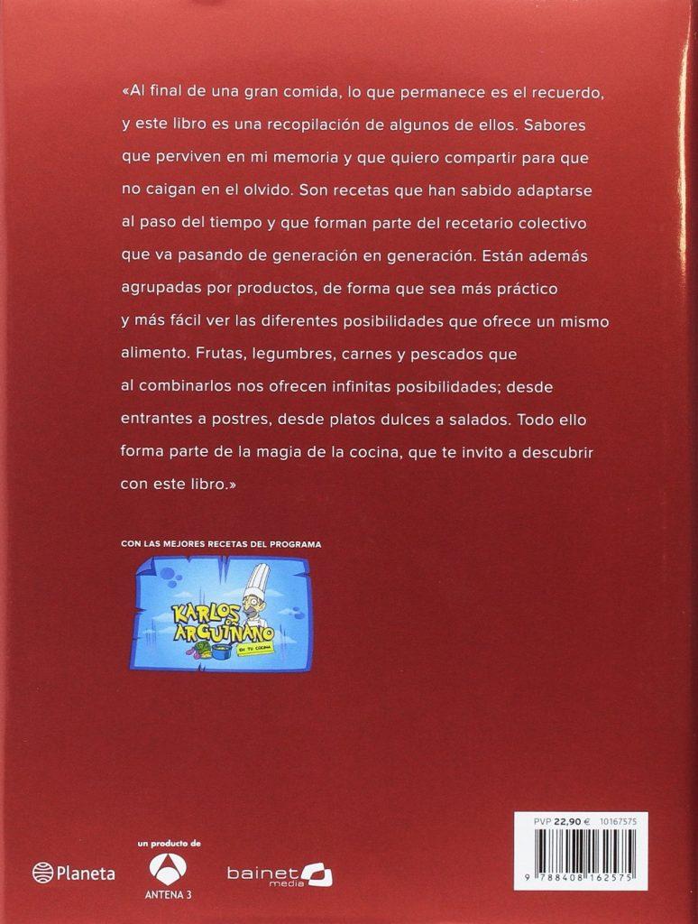 """Libro de recetas de cocina de Karlos Arguiñano 2016 """"Sabores de siempre"""""""