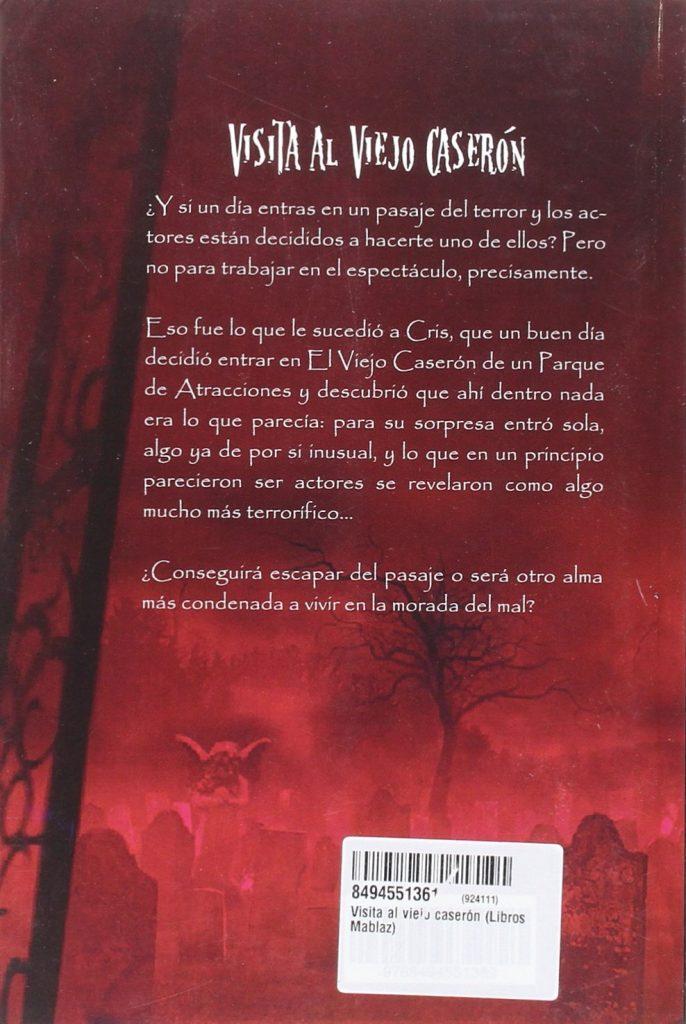 """Libro de terror de Cristina Bermejo Rey """"Visita al viejo caserón"""""""