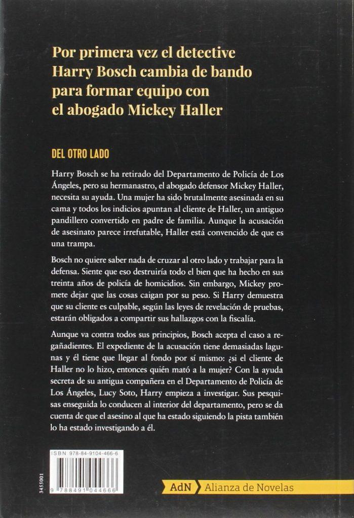 """Novela policíaca de Michael Connelly """"Del otro lado"""""""