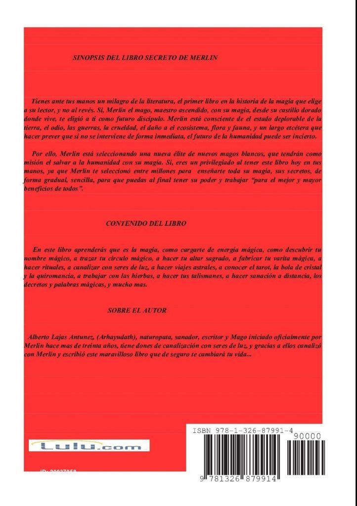 """Libro de desarrollo personal de Alberto Lajas """"El libro secreto de Merlin"""""""