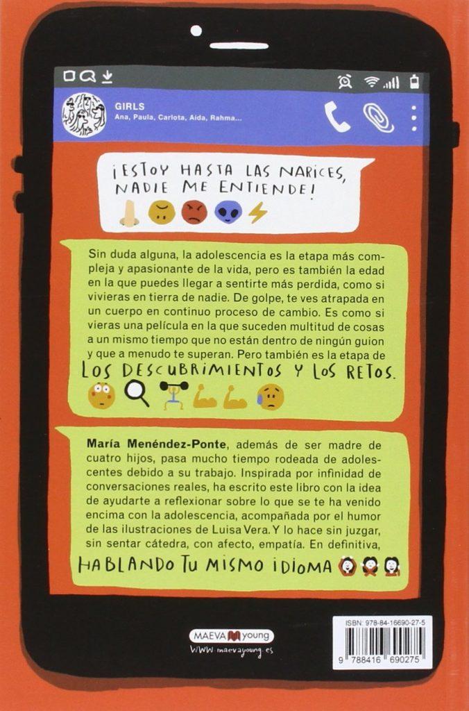 """Libro de humor para adolescentes """"Soy una adolescente: nadie es perfecto"""" escrito por la creadora de Pupi María Menéndez-Ponte"""