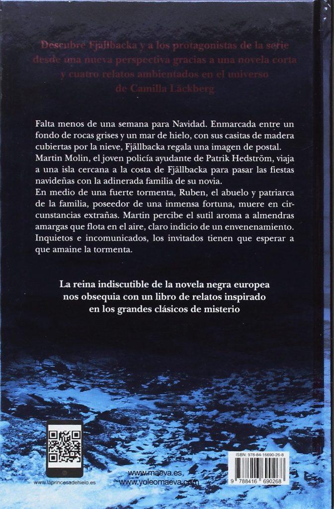 """Novela negra y relatos de misterio de la autora escandinava Camilla Läckberg """"Tormenta de nieve y aroma de almendras"""""""