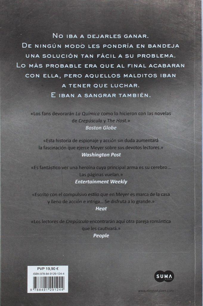 """La Química"" thriller de Stephenie Meyer autora de la saga juvenil Crepúsculo"