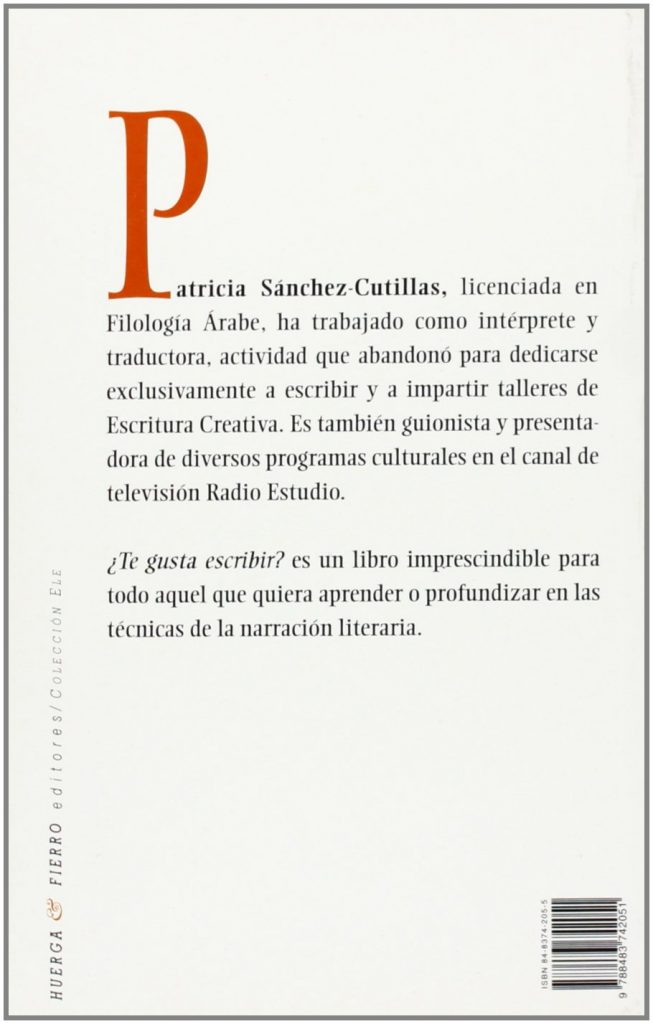 "Libros para escritores de Patricia Sánchez-Cutillas ""¿Te gusta escribir?"""