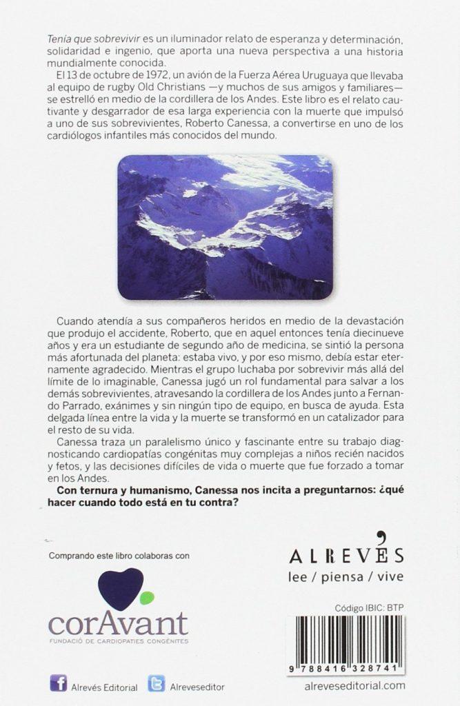 """Libro solidario """"Tenía que sobrevivir"""" Historias reales Roberto Canessa y Pablo Vierci"""
