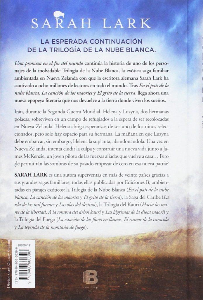 """""""Una promesa en el fin del mundo""""  continuación de la trilogía de la Nuble Blanca… de Sarah Lark"""