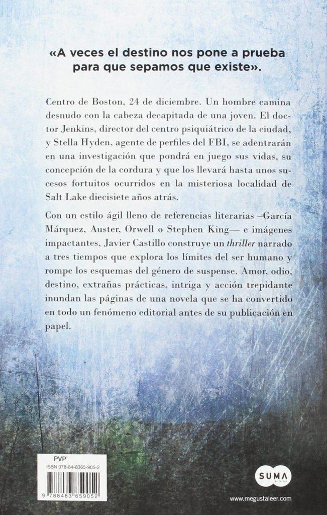"""Thriller """"El día que se perdió la cordura"""" novela de intriga de Javier Castillo"""