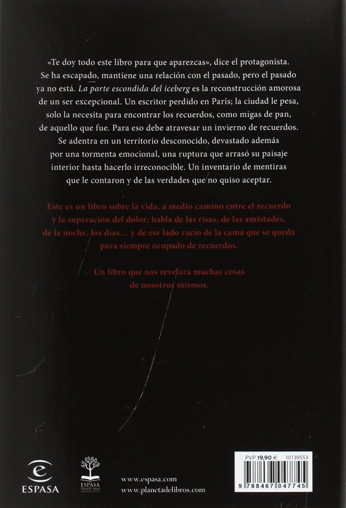 """última novela de Màxim Huerta """"La parte escondida del iceberg"""" 2017"""