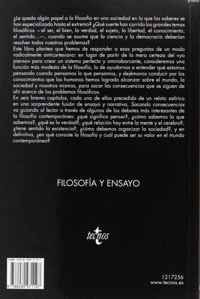 """Una filosofía para el siglo XXI libro """"Sacando consecuencias"""" Jesús Zamora Bonilla"""