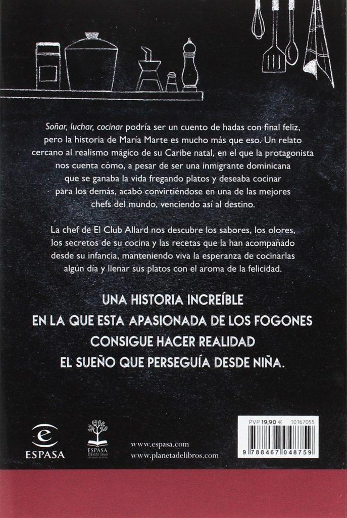 """Libro de la chef con estrellas michelín María Marte """"Soñar, luchar, cocinar"""""""