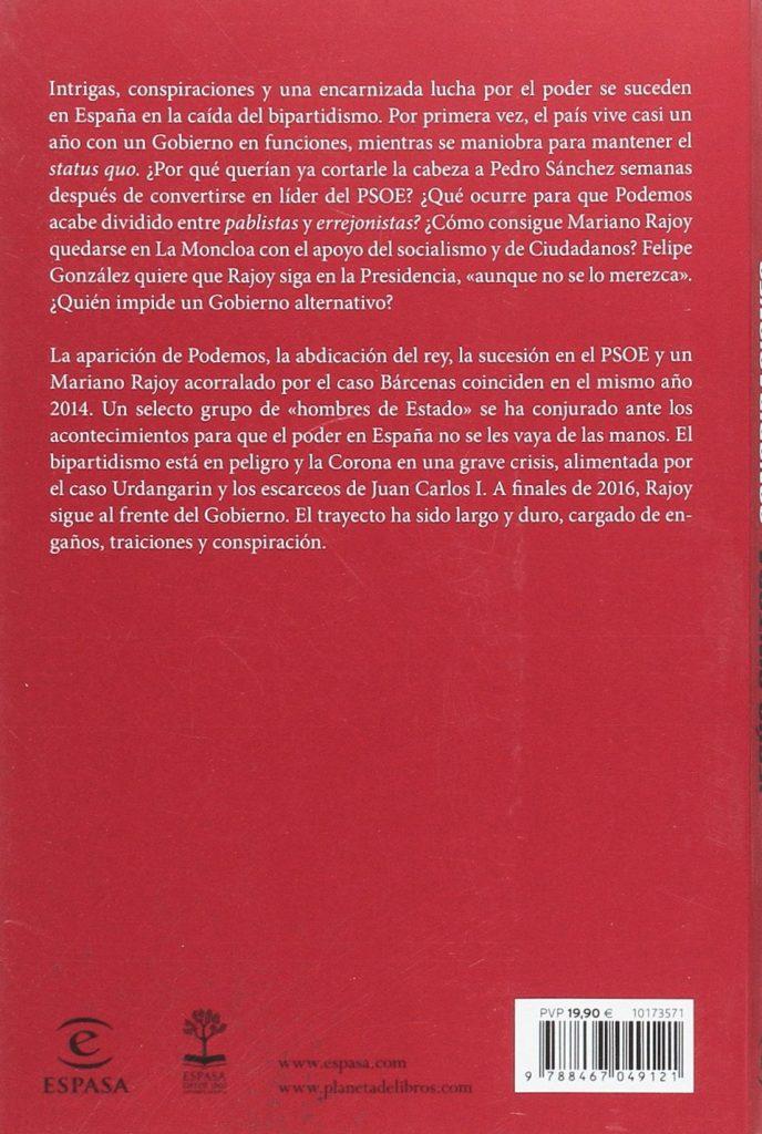 """Libro de política del periodista Jesús Cintora """"Conspiraciones ¿Por qué no gobernó la izquierda?"""""""